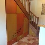 Aménagement sous escalier en valchromat