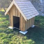 Cabane pour chien avec toit en bardeau1