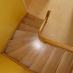 Escalier à noyau - Chêne et inox -3