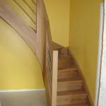 Escalier à noyau - Chêne et inox