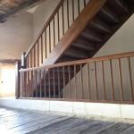 Escalier avec barreaux droits à 45°