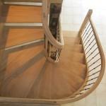 Escalier courbe - Chêne et fer - 3
