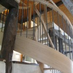 Escalier courbe - Chêne et fer - 4