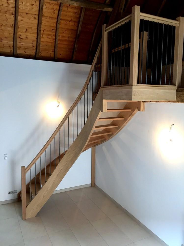 Escalier courbe avec pallier d'arrivée (2)