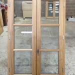 Fenêtre chêne avec petit bois horizontaux