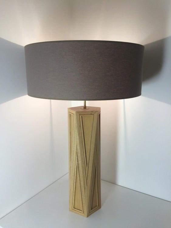 Lampe contemporaine en octaèdre pentagonal