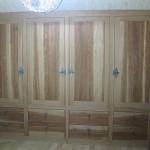 Mobilier de chambre en chêne brun
