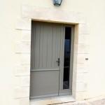 Porte d'entrée avec semi fixe vitrée