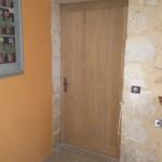 Porte intérieure en chêne à lames verticales