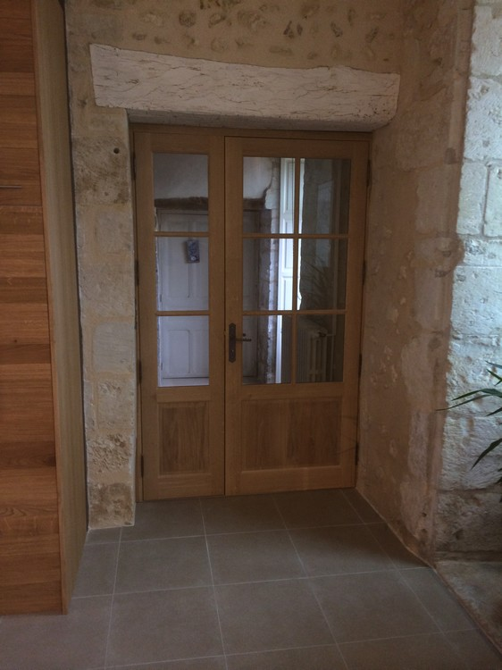 Porte intérieure vitrée en chêne
