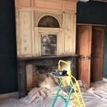 Restauration d'un trumeau et portes intéérieures pour monument historique