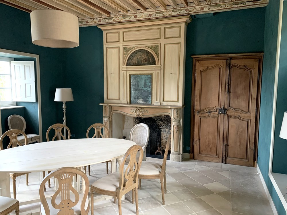 Restauration porte, trumeau et cheminée